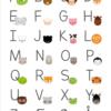 Alfabet plakat med dyr til børn -