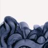 Blue fingerpaint plakat -