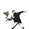 Flower thrower - Banksy plakat - The flower thrower - Banksy plakat