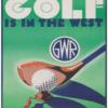 Golf in the west - Retro plakat -