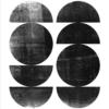 Half and whole circles plakat -