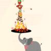 Tæl til 10 med elefanten - Børneplakat - Gør læring til leg med plakater til værelset