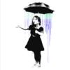 Umbrella girl - Banksy plakat - Umbrella girl - Banksy plakat