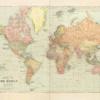 Verdenskort plakat - Vintage - Vintage verdenskort plakat
