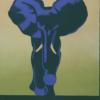 Zoo plakat - Blå elefant -